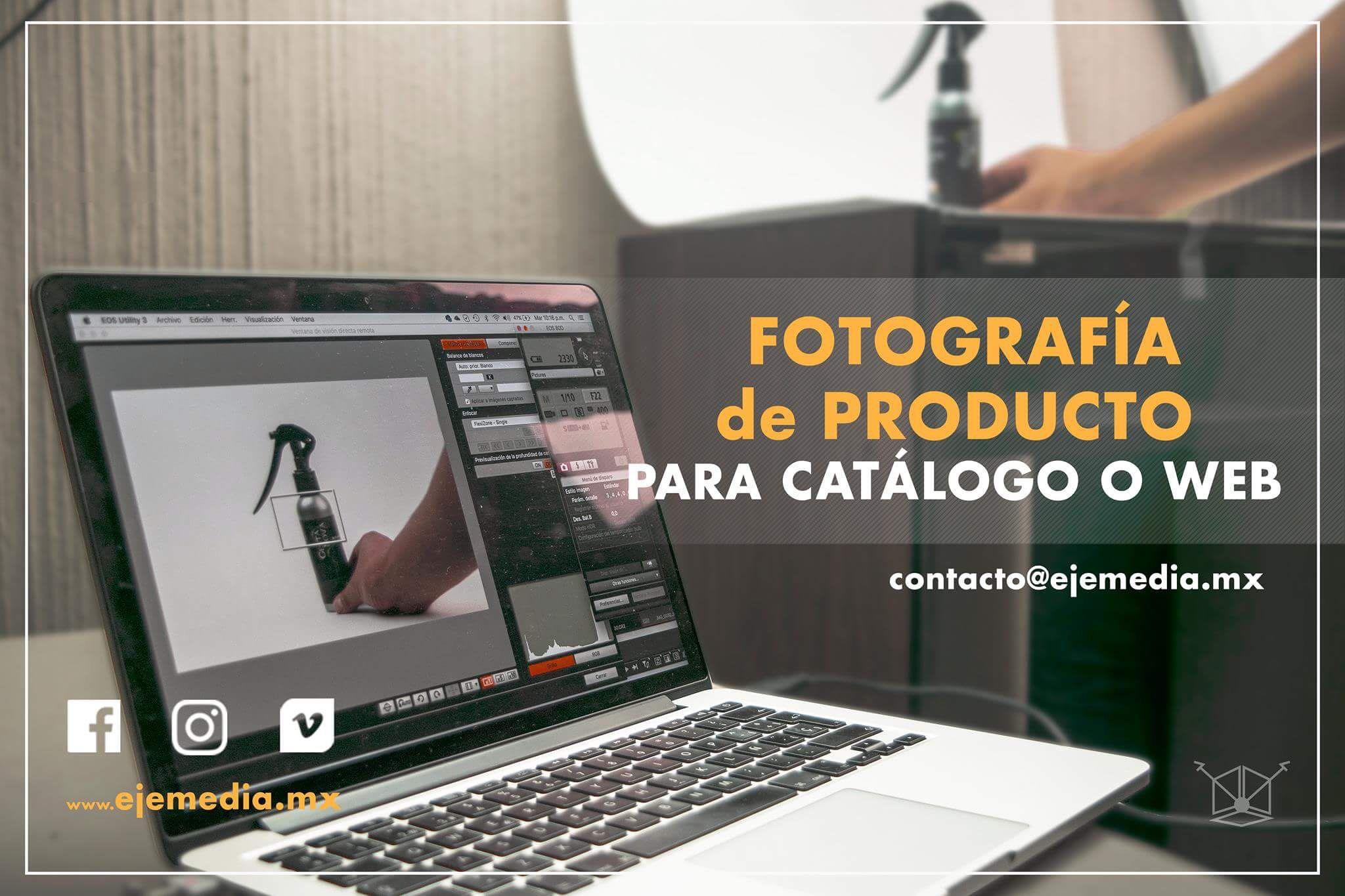 Fotografía de producto en #EjeMedia