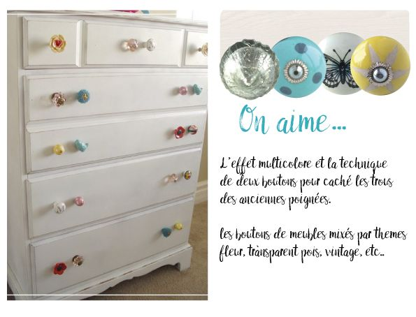 relooking meuble blanc customisation meuble vintage diy meuble bouton de meuble boheme