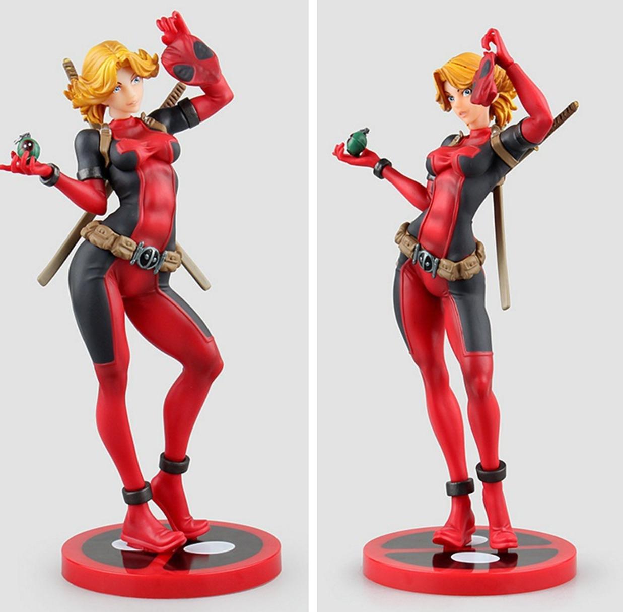 "10/""  Bishoujo PVC Statue 1//7 Lady Deadpool Kotobukiya Figure Christmas gift"
