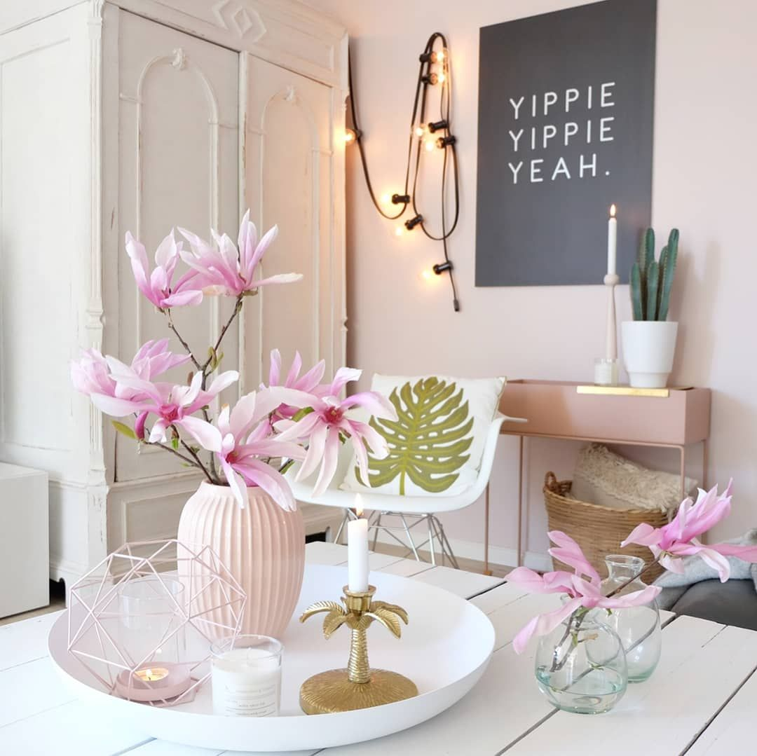 Einrichten, Blumen, dekorieren, Livingroom, Tisch, DIY, Haus, Deko