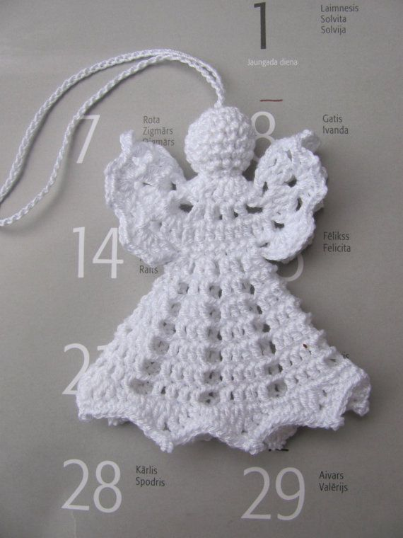 Crochet angel Christmas decoration A17