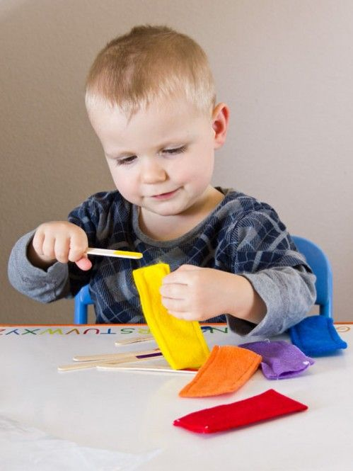 Color Games for Toddlers - Popsicle Stick Color Matching -- From ...