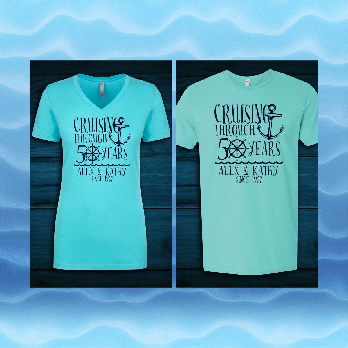 Custom Anniversary Cruise Shirts by CulturePunch on Etsy