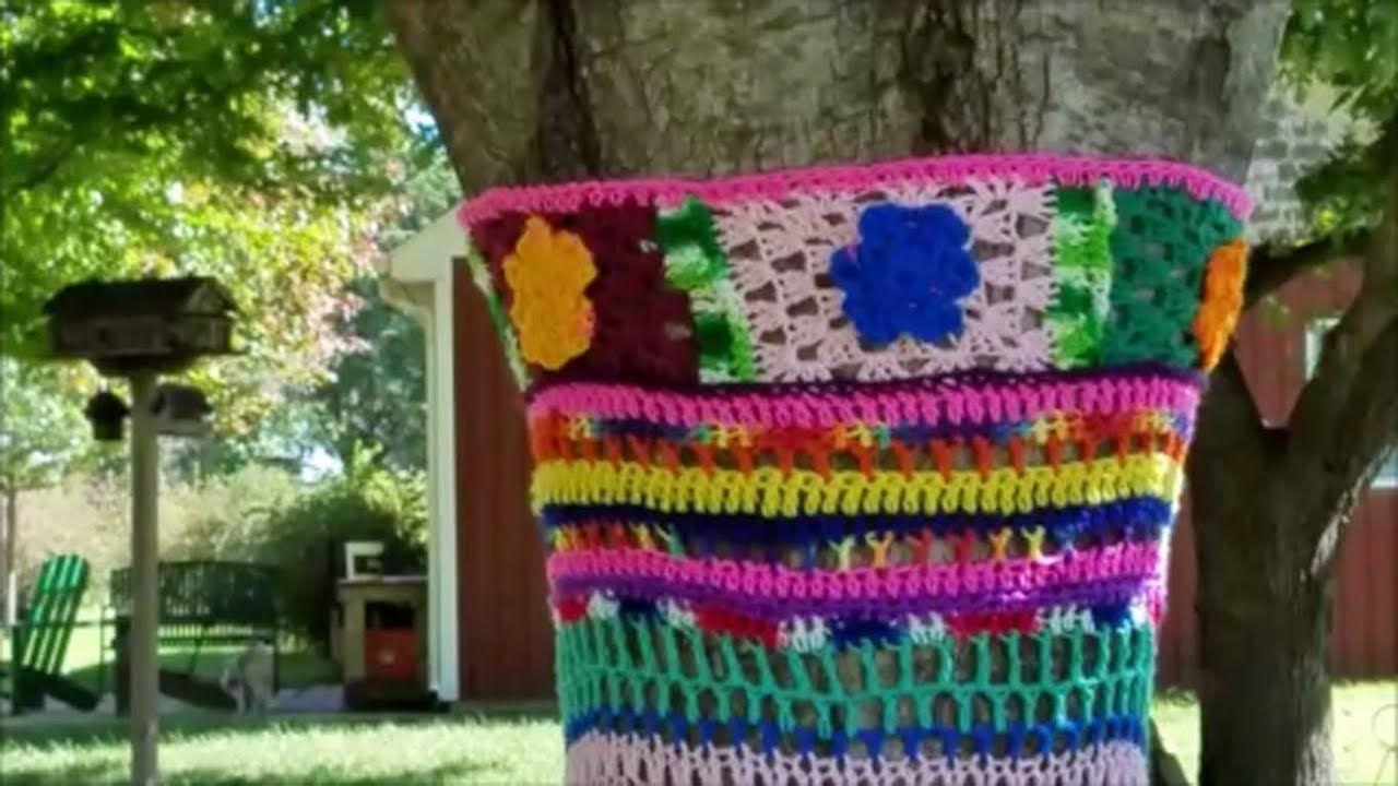 Yarn Bombing, Crochet Trees & More Crochet tree, Yarn