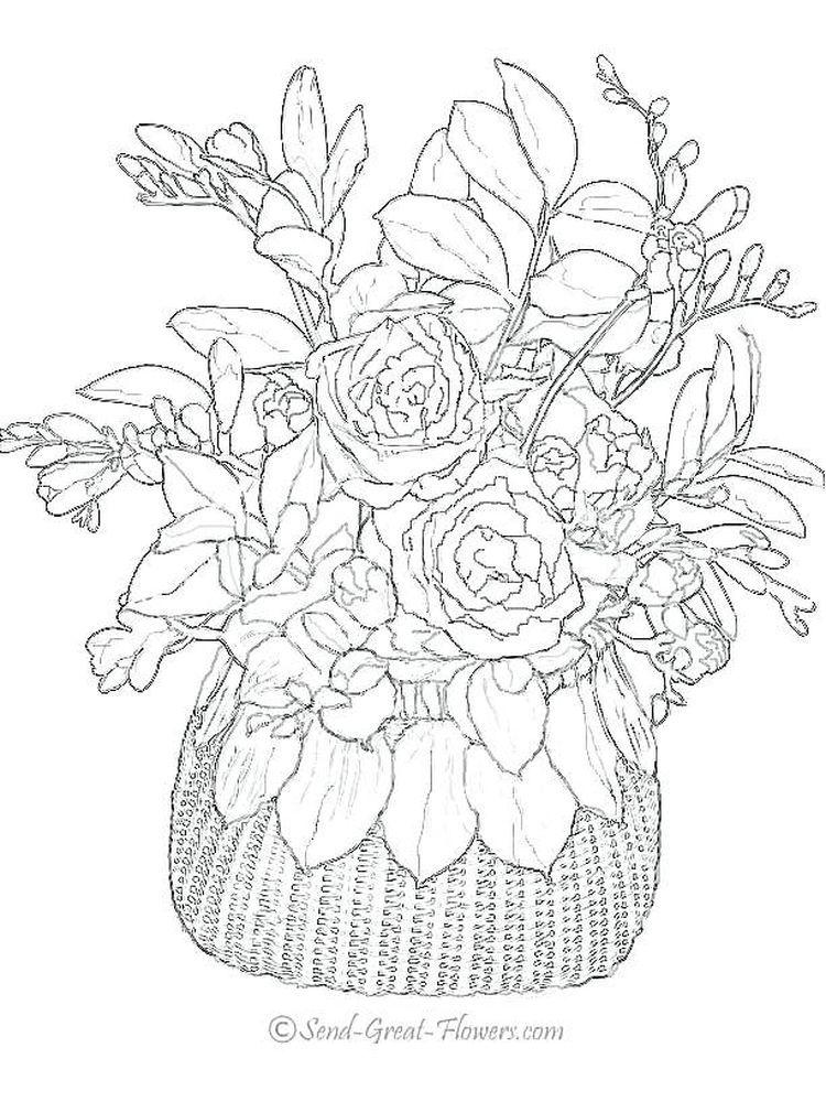 Flowers Coloring Pages Pdf Cinebrique