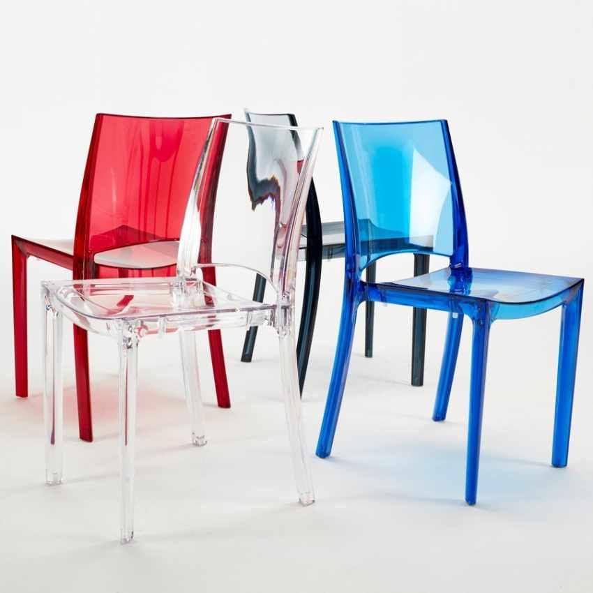 Sedie trasparenti per cucina bar e ristorante impilabile B