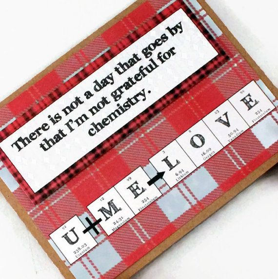 Chemistry Valentines Day Science Card by ShopGibberish on Etsy – Chemistry Valentines Day Card