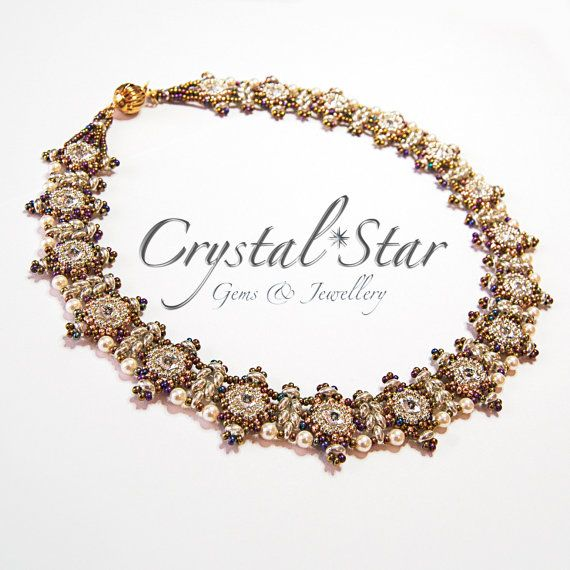 Petali Di Fiori Necklace Tutorial by Crystalstargems on Etsy