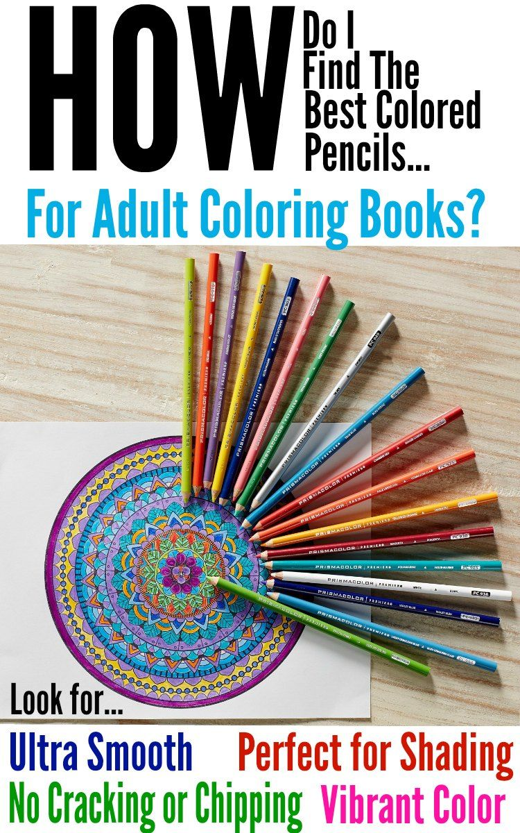 Best Colored Pencils for Adult Coloring Books | Adult coloring ...