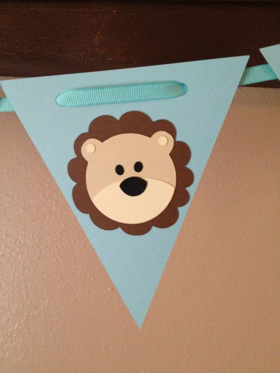 Little Lion Baby Shower or Birthday Banner, available for purchase on Etsy.