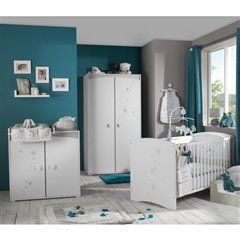 bleu canard gris | chambre bébé | Toddler bed, Locker ...
