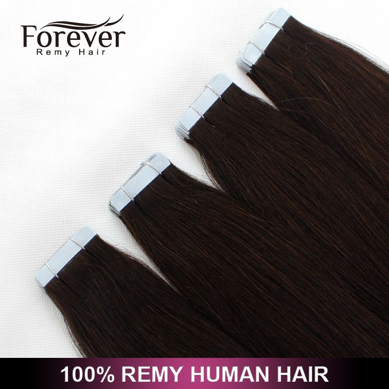 Long Lasting All Color 100 Remy Human Double Drawn Straight Tape