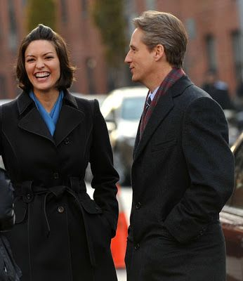 Linus Roache And Alana De La Garza On Location For Law Order