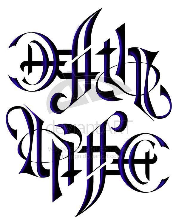 Life Death Ambigram : death, ambigram, Death, Ambigram, Tattoo, Design, Tattoo,, Style, Drawings,
