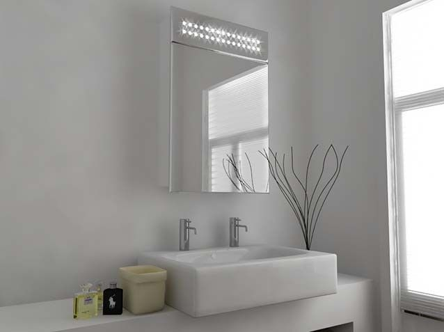 Quinn LED Mirror Cabinet With Sensor And Shaver Socket