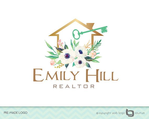 Premade Real Estate Company Logo Emily Hill Realtor Real  Real