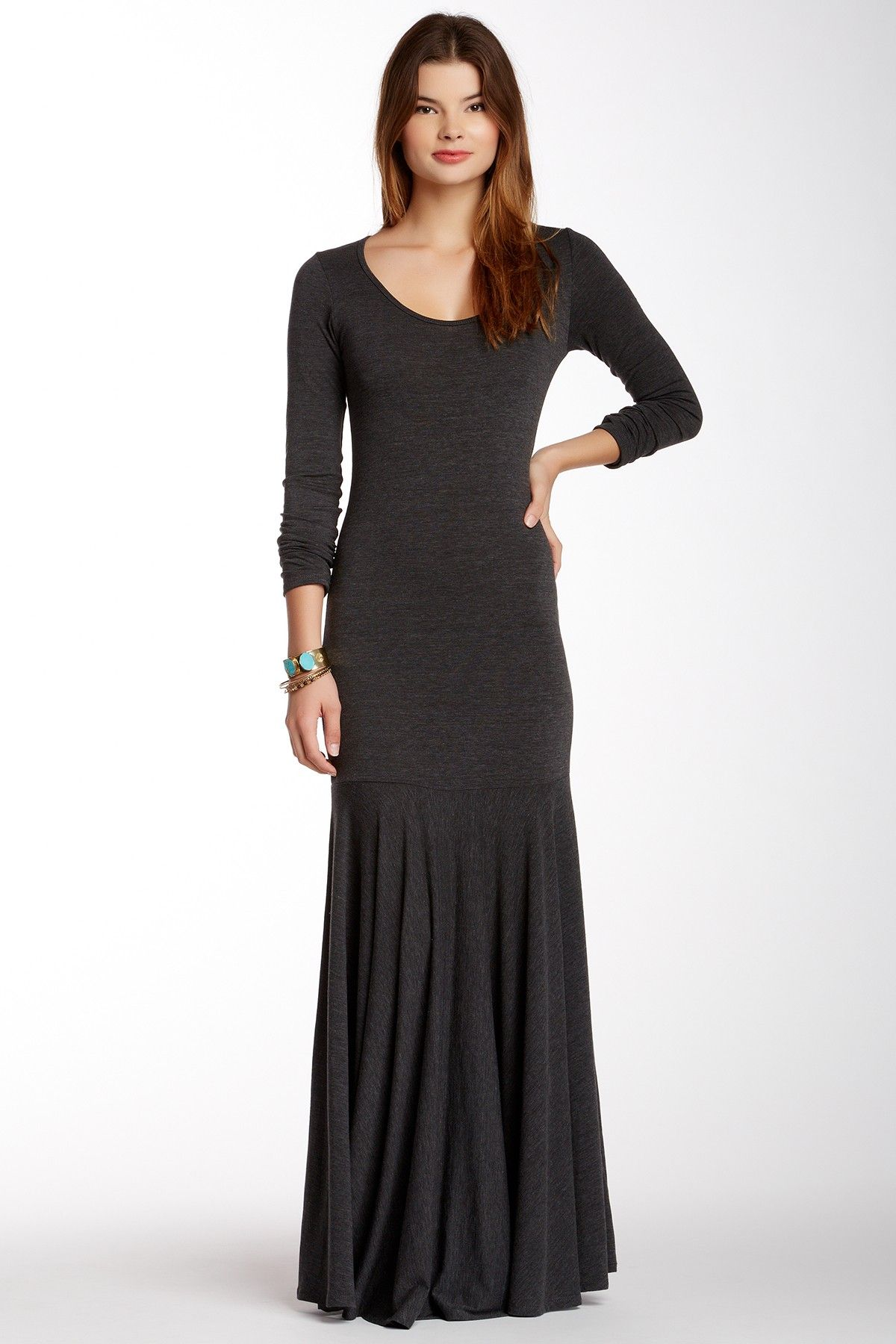 Great dress for cooler weather.