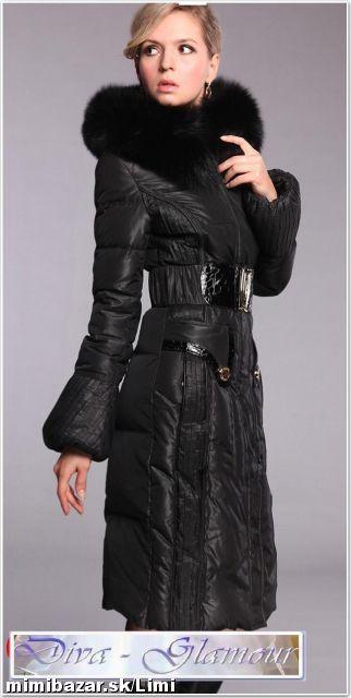 NOVÉ ZBOŽÍ Dlhá luxusná zimná páperová bunda s kožušinou  40f4cdc1c83