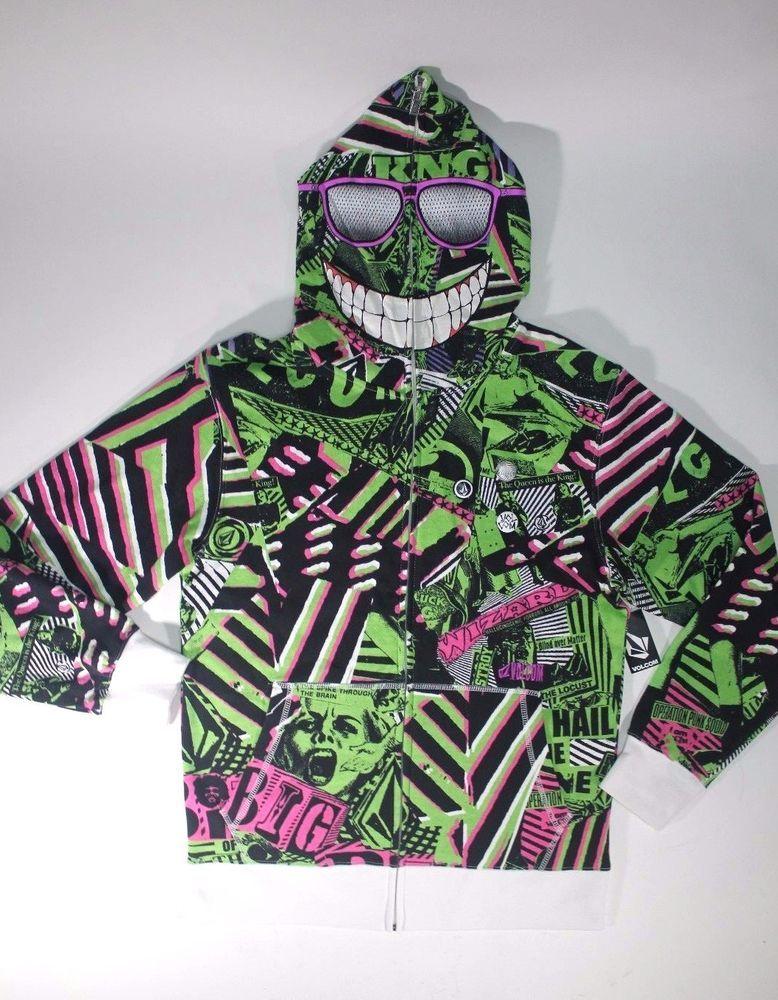 Volcom Womens Straight Zip Pullover Hooded Sweatshirt