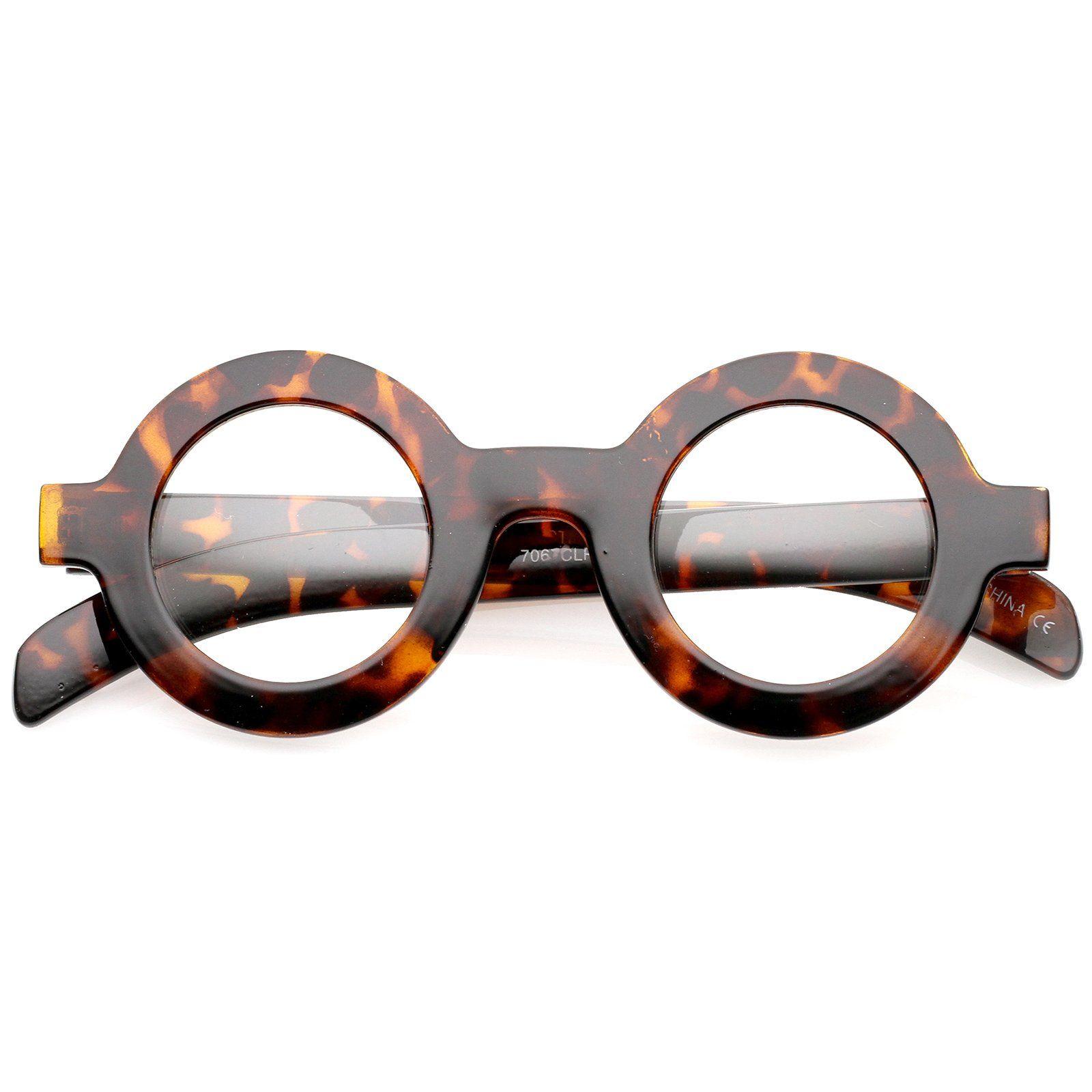 Bold thick frame flat clear lens round eyeglasses 39mm round bold thick frame flat clear lens round eyeglasses 39mm jeuxipadfo Images