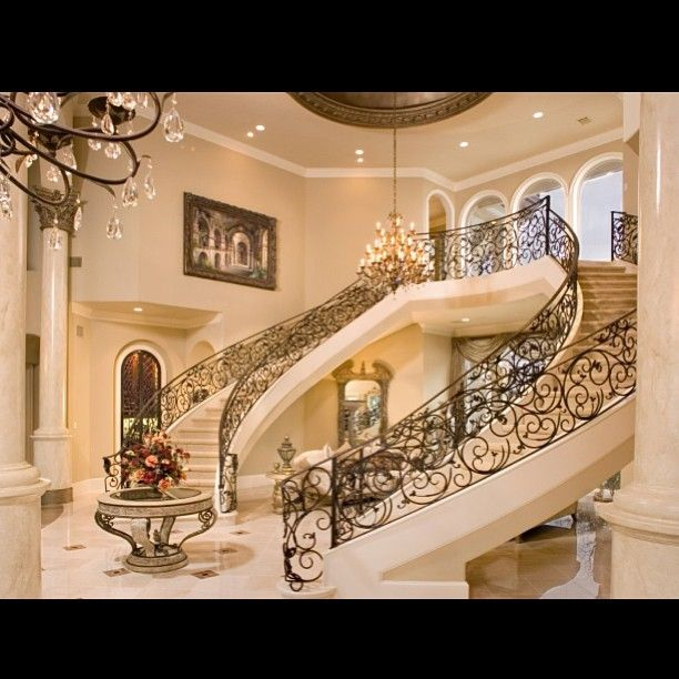 Stair Design Budget And Important Things To Consider: Beautiful And Grand Staircase #entry #home #homedecor