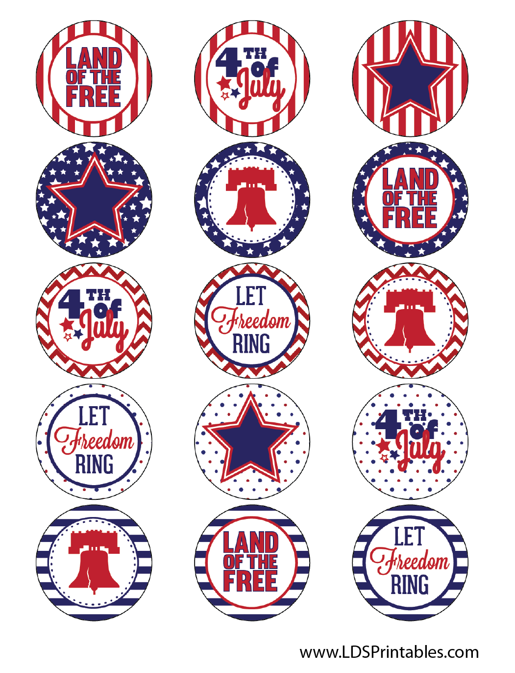 LDS Printables: 4th of July Party Printables and Thoughts About ...