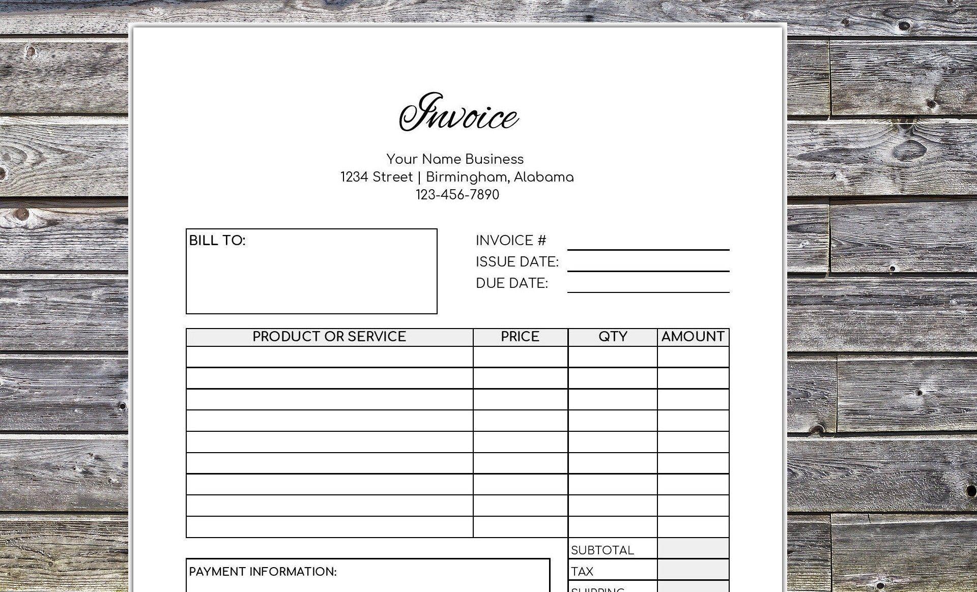 Invoice Printable