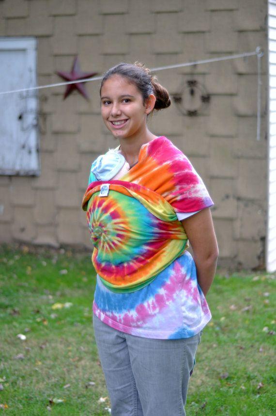Rainbow Tie Dye Stretchy Wrap Baby Wrap Carrier Baby