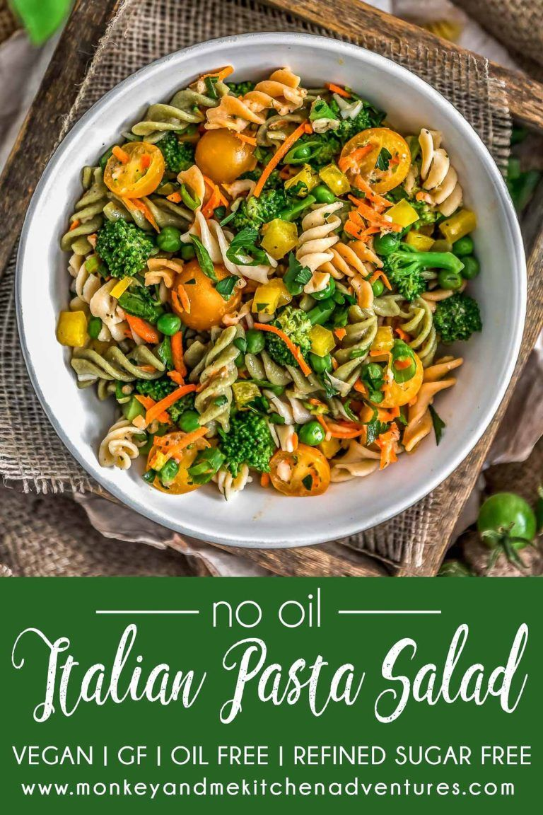No Oil Italian Pasta Salad