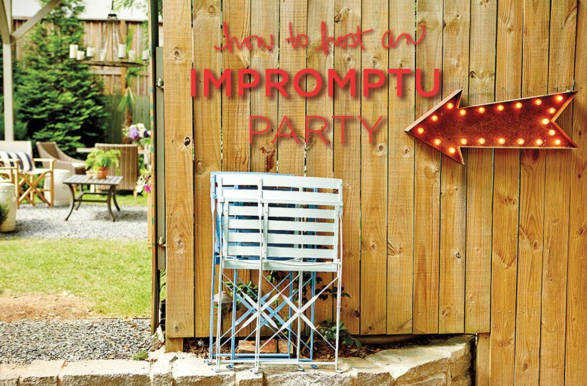 How To Throw An Impromptu Outdoor Party - http://www.decorazilla.com/decor-ideas/how-to-throw-an-impromptu-outdoor-party.html