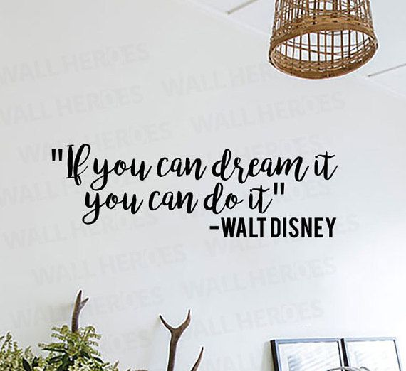 Disney Quotes Inspirational Wall Decal Disney by WallHeroes | Decals ...