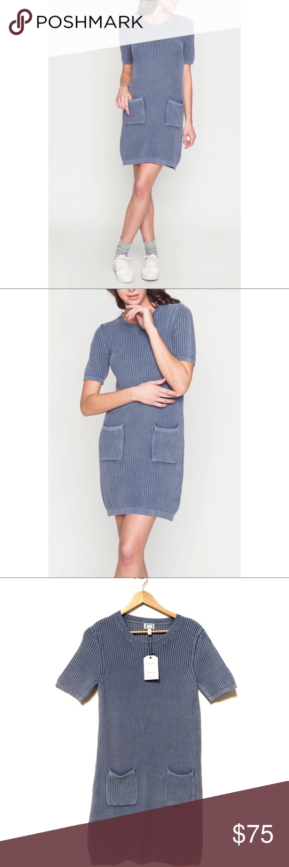 Wash Effect Short Sleeve Knit Sweater Dress Knit Sweater Dress Sweater Dress Knitted Sweaters [ 1740 x 580 Pixel ]