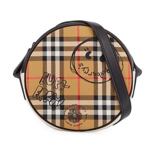0aaed050b5 Girls' round vintage check & cartoon-print crossbody bag by Burberry # burberry