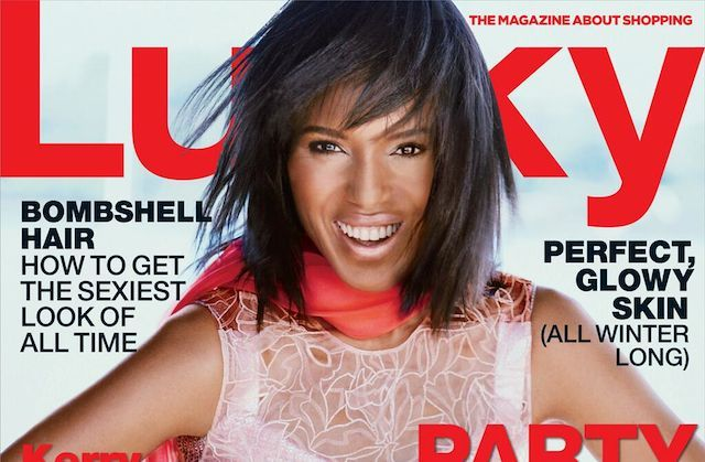 Kerry Washington Sports Edgy Bob on New Lucky Cover #edgybob The Scandal star trades in her usual sleek 'do for something a little more freewheeling. #edgybob