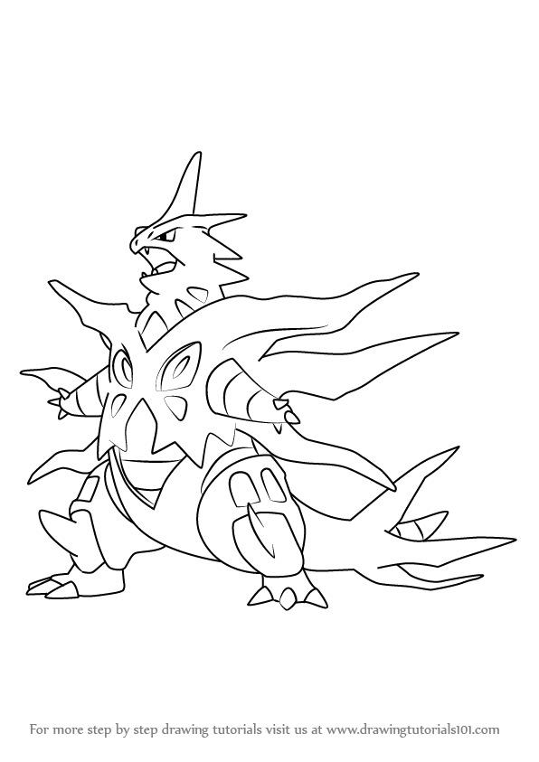 Learn How To Draw Mega Tyranitar From Pokemon Pokemon Step By Step Drawing Tutorials Pokemon Coloring Pokemon Pokemon Coloring Pages
