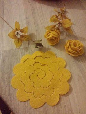 Einfache Rosenproduktion aus Filz1  Blumen