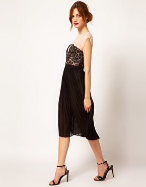 4fbf637dc9 Yet another cute dress unavailable in my size    ASOS Warehouse Lace Panel  Midi Dress