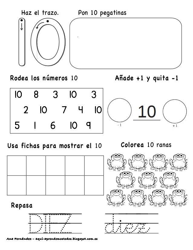 Números hasta el 10 | Maths | Pinterest | Zahlen und Kind
