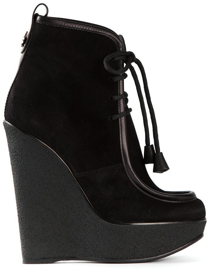 b0433e5f0e5 DSquared lace-up wedge boots on shopstyle.com
