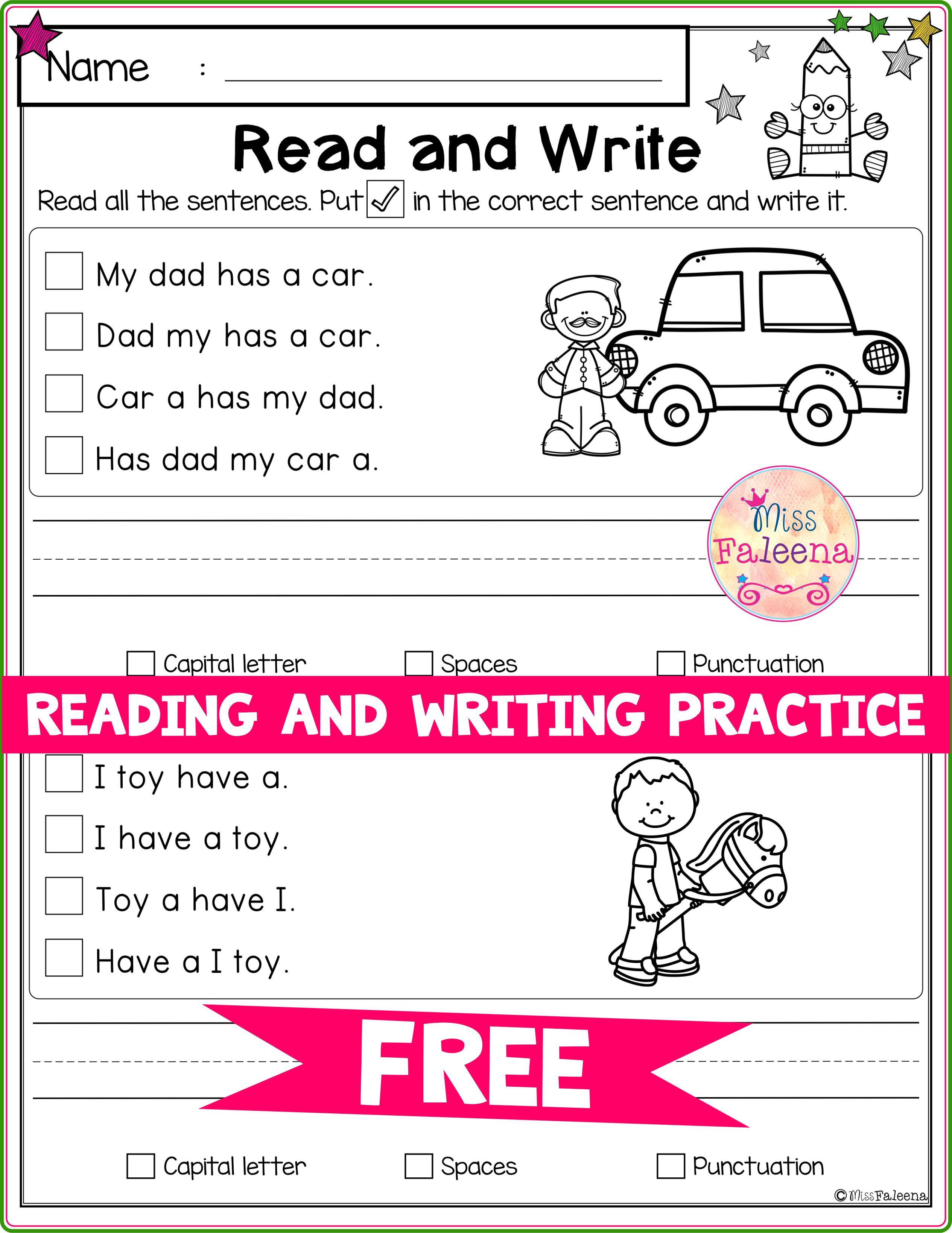 Free Reading And Writing Practice Writing Practice Writing Skills Reading Writing Reading and writing worksheet for