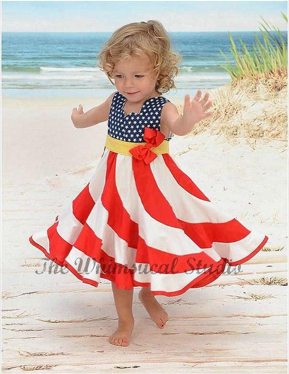 e1d9365044 Red White   Blue Peppermint Swirl Dress   Flag Swirl Dress   Patriotic  Swirl Dress   American Flag Dress   Girls Stars and Stripes Dress