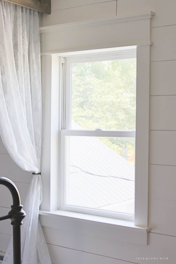 Farmhouse window trim window learning and window trims for Window design molding