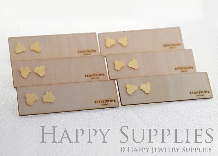 100Pcs Jewelry display card earrings ear studs pack hang tag rectangle holder!E