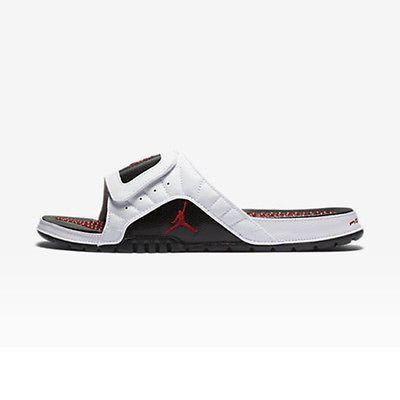 22982055a77 Jordan Hydro Xll Retro Mens 820265-131 White Gym Red Black Slide Sandals Size  12