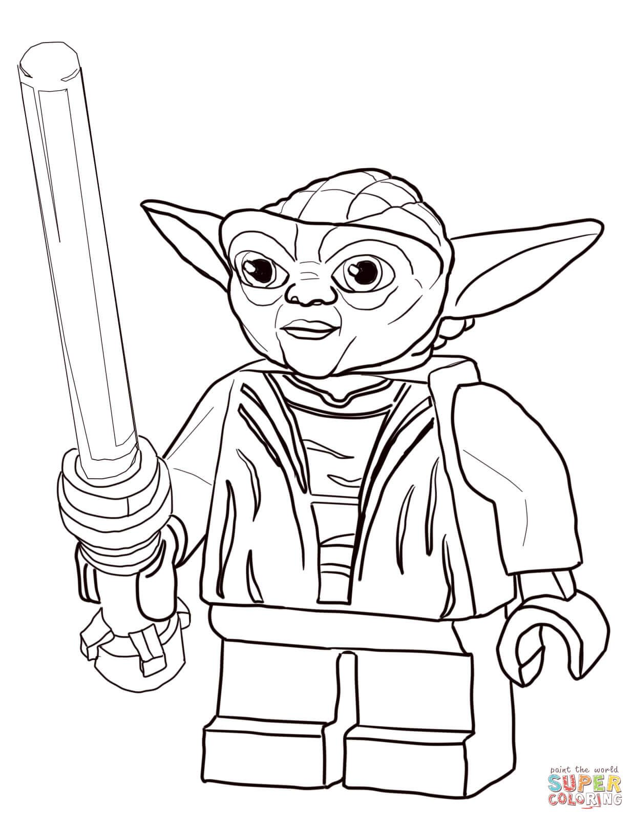 Online star wars coloring pages - Lego Star Wars Master Yoda Super Coloring Lego Coloring Pagesonline