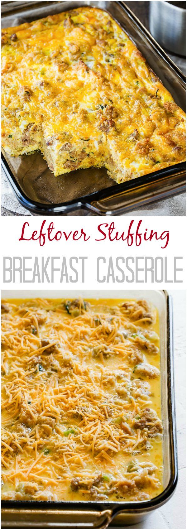 Photo of Leftover Stuffing Breakfast Casserole ~Sweet & Savory