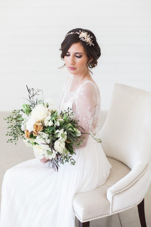 Rose Gold und Kristall Braut Kopfschmuck, Hochzeitshaare ...