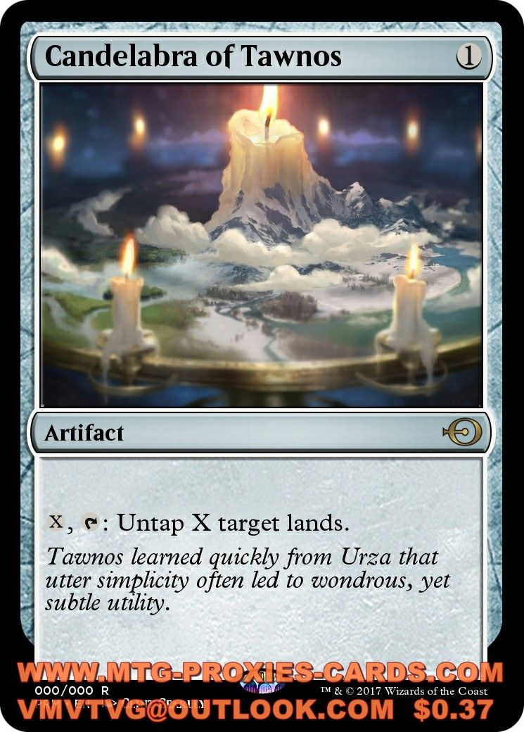 Candelabra Of Tawnos Xlhq Magic The Gathering Proxy Cards Mtg Proxies All Cards Available From 0 37 Vis Magic The Gathering Wizards Of The Coast The Gathering