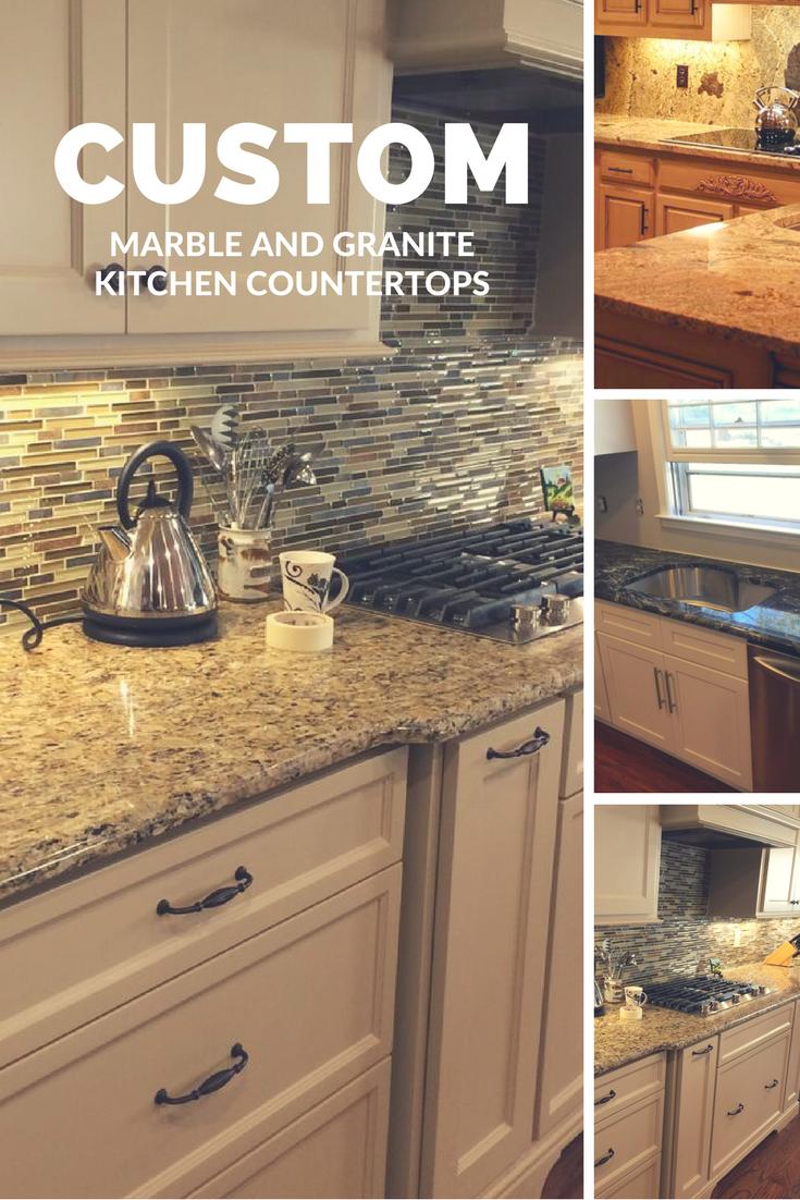 Custom Marble and Granite Kitchen Countertops | Custom Granite ...