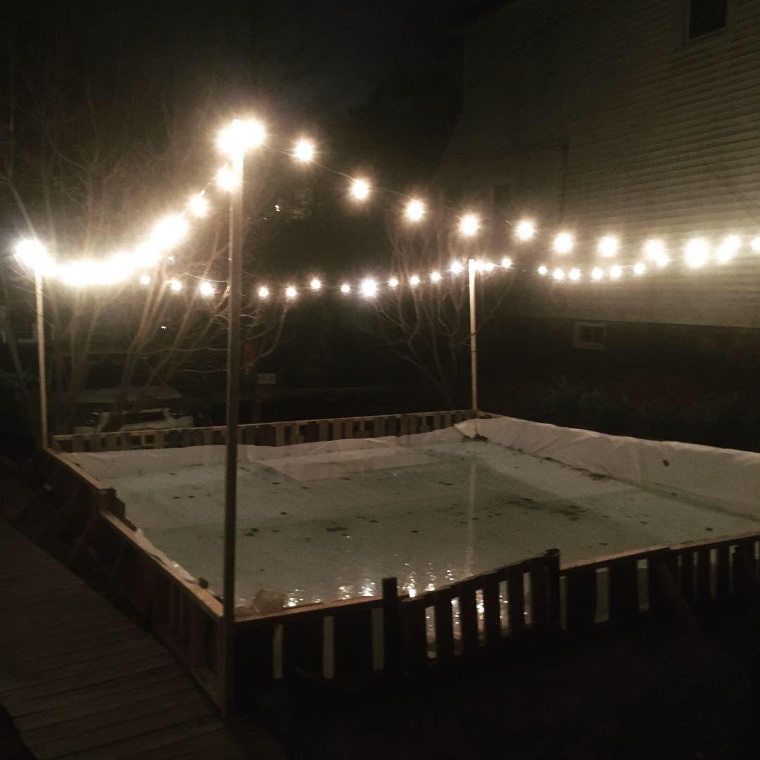 Backyard ice rink.   Backyard rink, Backyard ice rink ...
